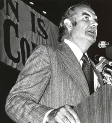 George McGovern campaigning in Houston, TX, in 1972; Courtesy Special Collections, University of Houston Libraries;   http://info.lib.uh.edu/about/campus-libraries-collections/special-collections-archives/request-digital