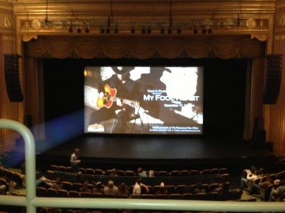 Paramount Theater house view of My Fool Heart test screening.